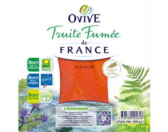 Truite Fumée de France 3 mini-tranches 100g