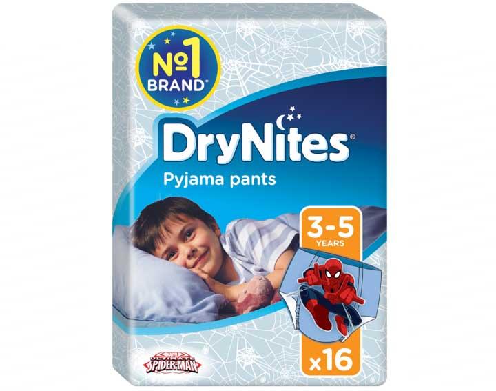 Sous-vêtements de nuit absorbants DRYNITES® garçon 3-5 ans (16-23kg)