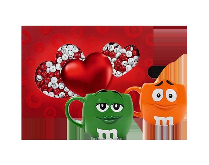 Coffret Amour 400g + Mugs Orange & Vert