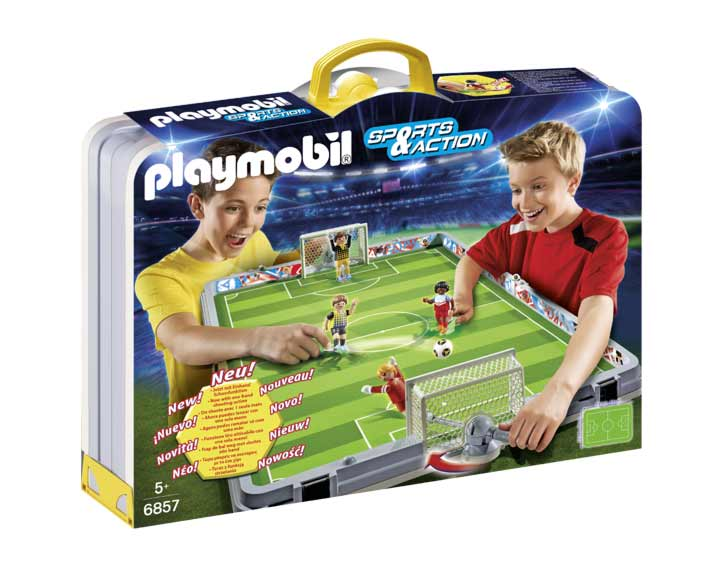Terrain de football transportable
