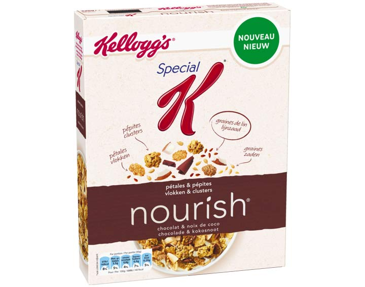 Special K nourish - Chocolat & noix de coco - 330g
