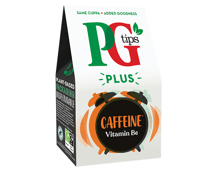 PG Tips Plus Caffeine 20 Tea Bags