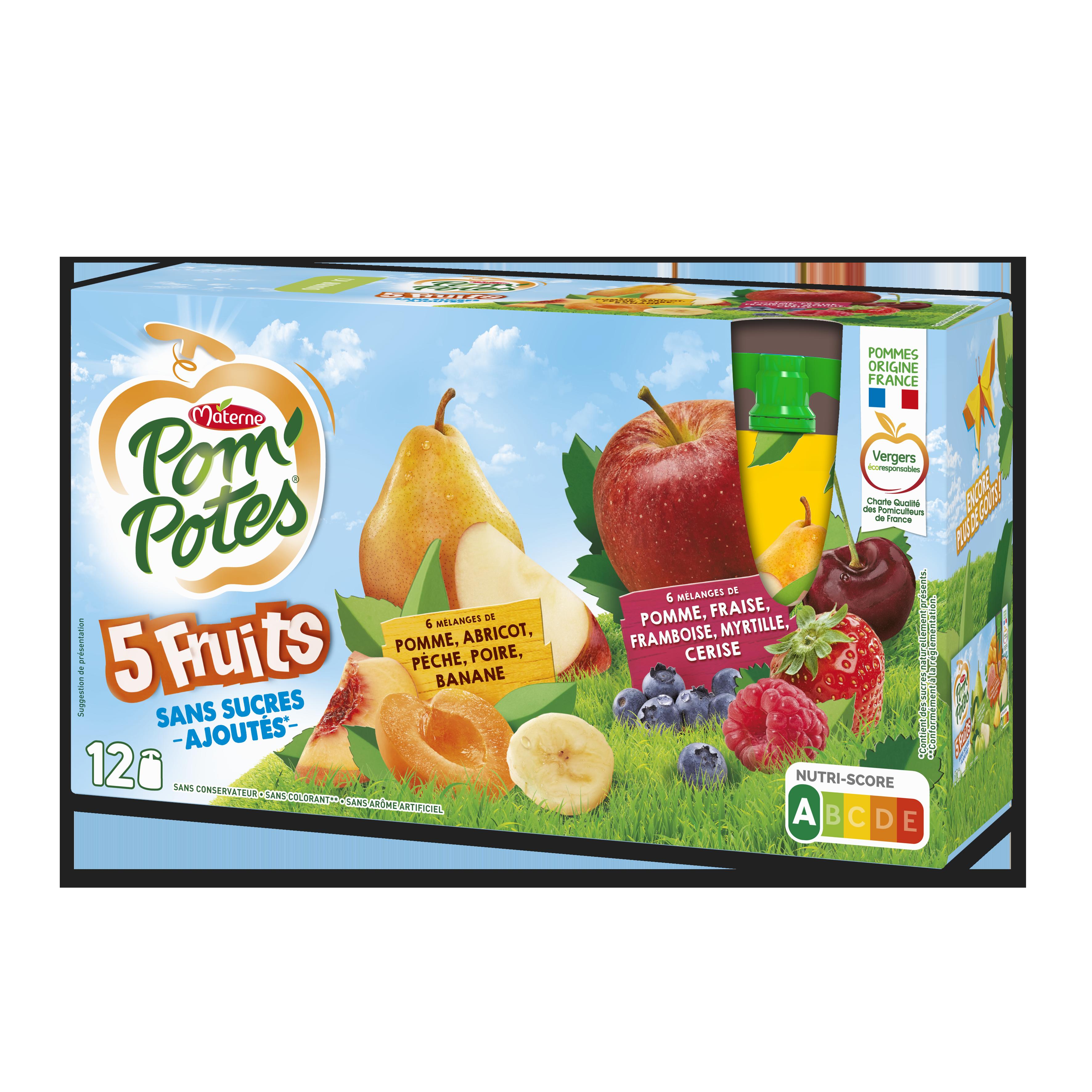 Bi-variétés 5 Fruits Jaunes & Rouges 12x90g