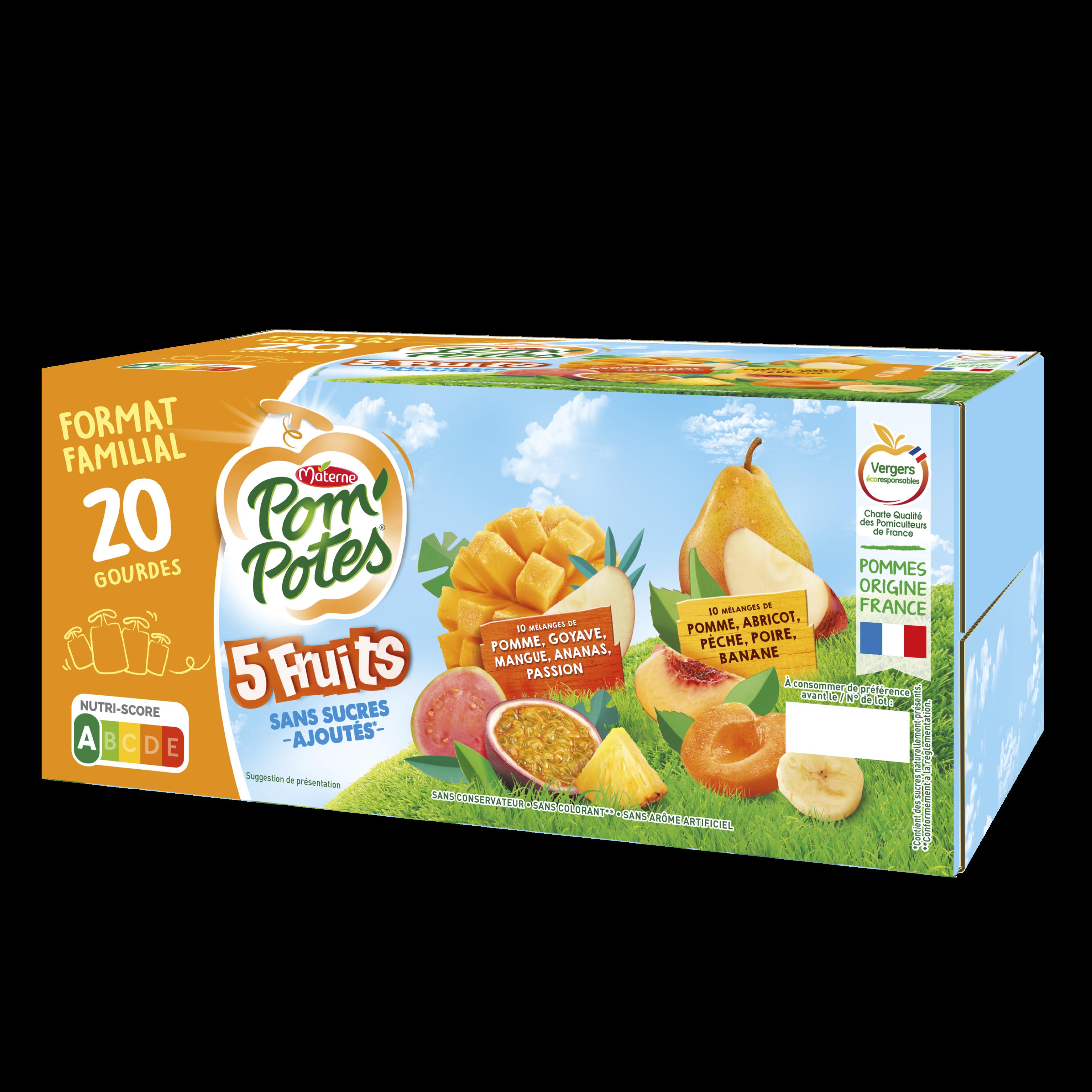 Bi-variétés 5 Fruits Exotiques & Jaunes 20x90g