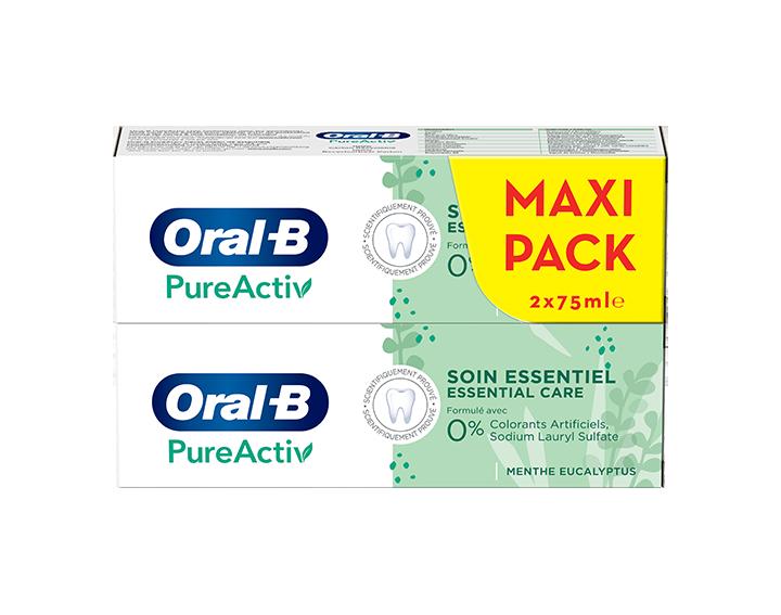 Oral-B PureActiv Soin Essentiel 2x75ml