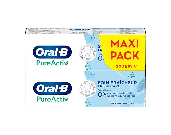 Oral-B PureActiv Soin Fraicheur 2x75ml