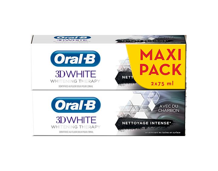 Oral-B 3D White Whitening Therapy Charbon 2x75ml