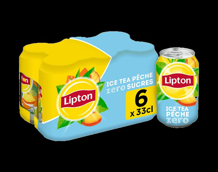 Lipton Ice Tea Zero Saveur Pêche 6x33cL
