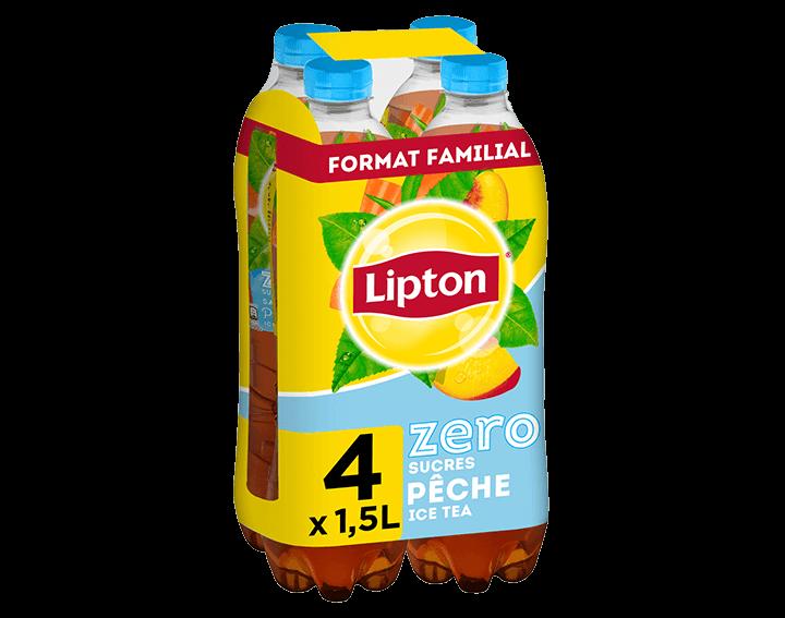 Lipton Ice Tea Zero Saveur Pêche 4x1,5L