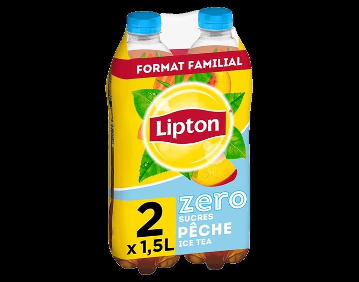 Lipton Ice Tea Zero Saveur Pêche 2x1,5L
