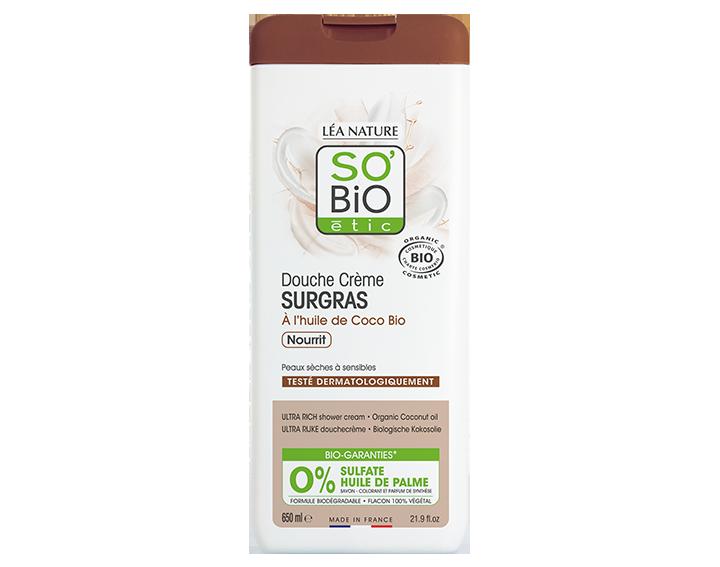 Douche crème surgras, à l'huile de Coco bio, 650ml