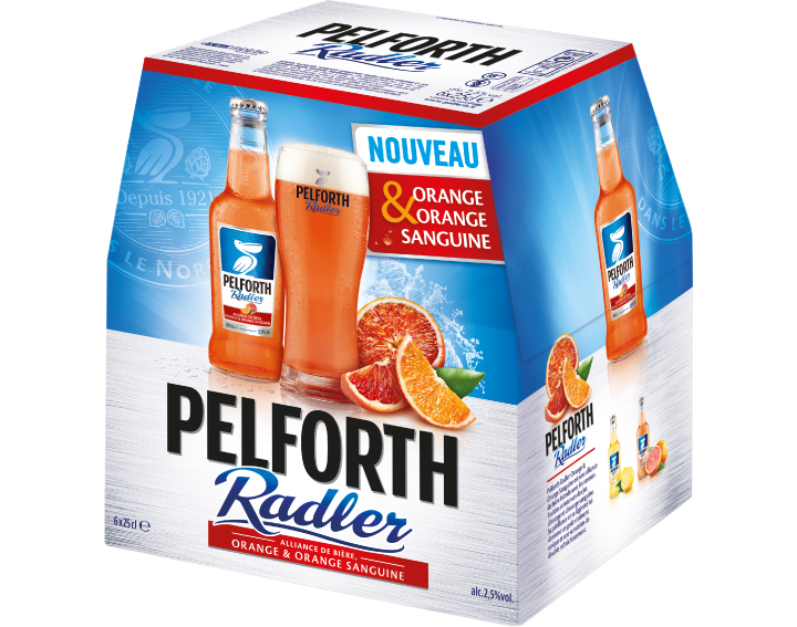 Pelforth Radler Orange & Orange Sanguine 6x25cl