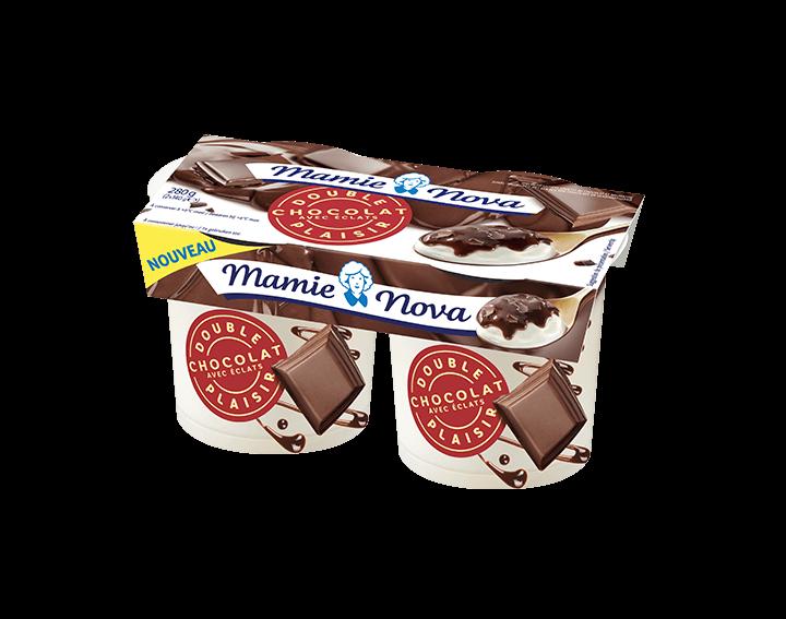 Double Plaisir Chocolat avec éclats 2x140g