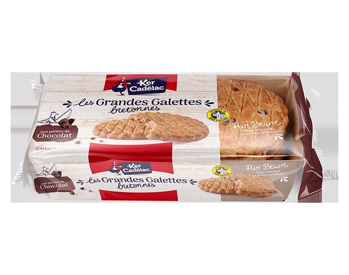 Grandes Galettes Bretonnes aux Pépites de chocolat 240g
