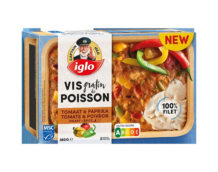 Visgratin tomaat paprika pikant 380g