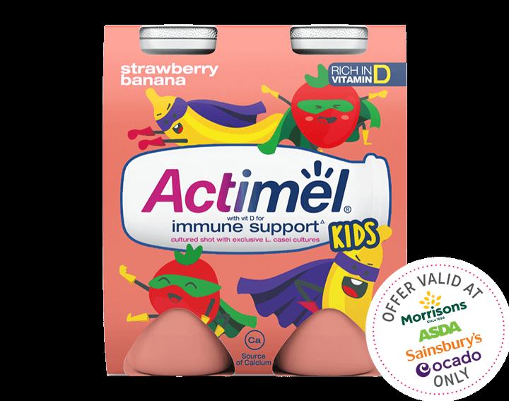 Strawberry Banana Yogurt Drinks 4x100g