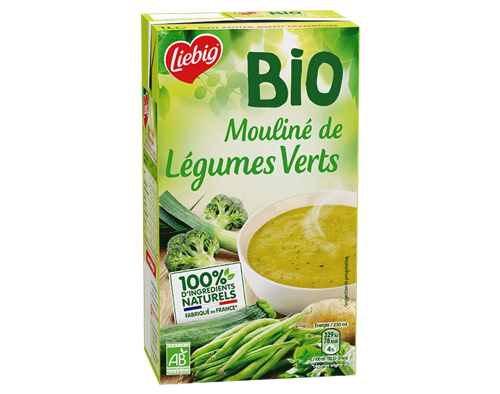 Mouliné de légumes verts BIO 1L