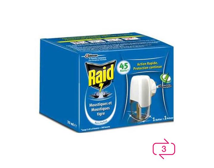 Raid® Diffuseur Electrique Liquide 45 nuits
