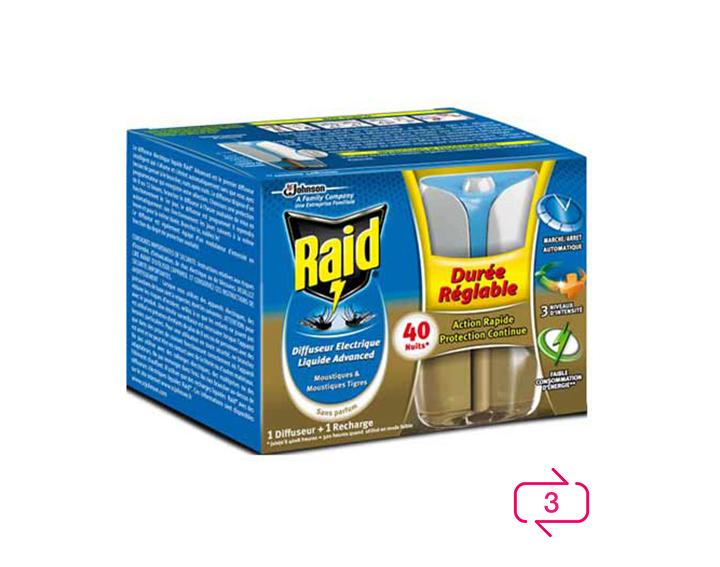 Raid® Diffuseur électrique liquide Advanced 40 nuits
