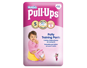 Pull-Ups® Fille Taille S/4 (8-15kg) x16