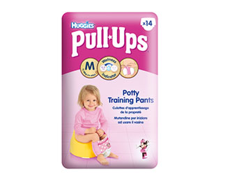 Pull-Ups® Fille Taille M/5 (11-18kg) x14