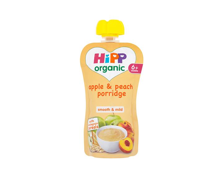 Apple & peach porridge