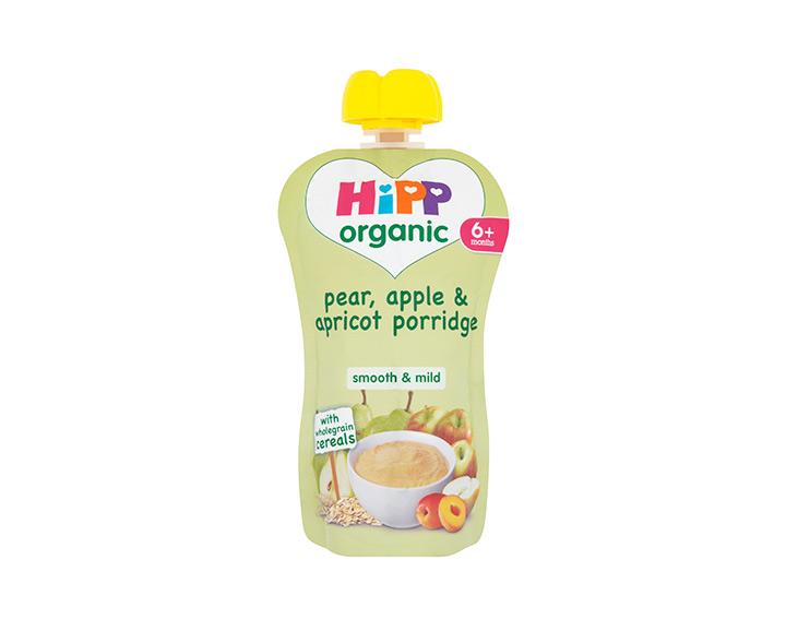 Pear, apple & apricot porridge
