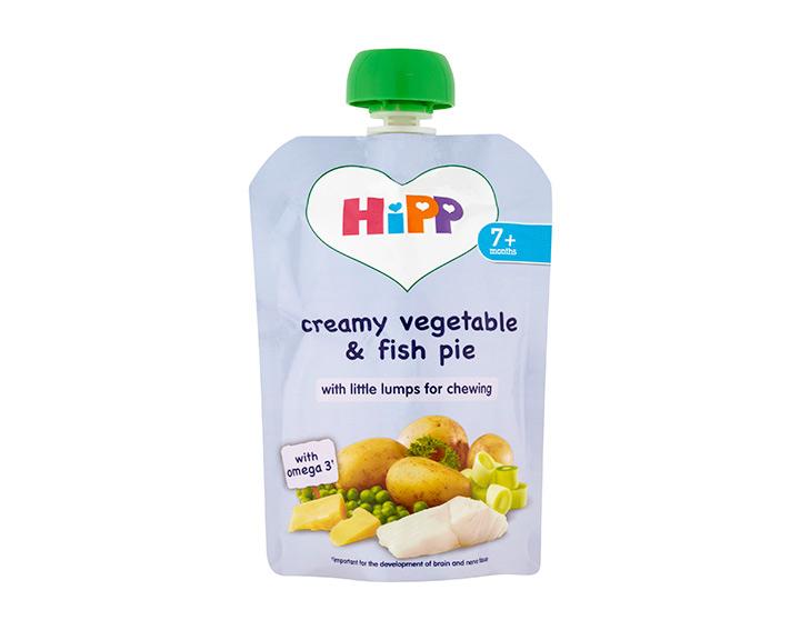 Creamy vegetable & fish pie
