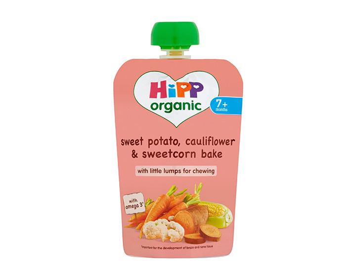 Sweet potato, cauliflower & sweetcorn bake