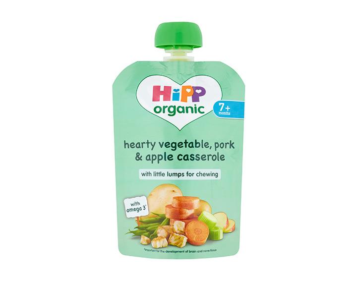 Hearty vegetable, pork & apple casserole