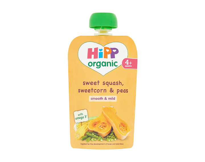 Sweet squash, sweetcorn & peas