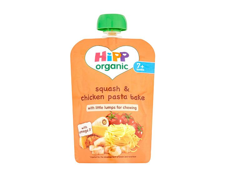 Squash & chicken pasta bake