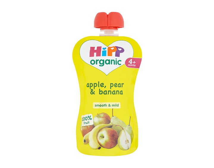 Apple, pear & banana