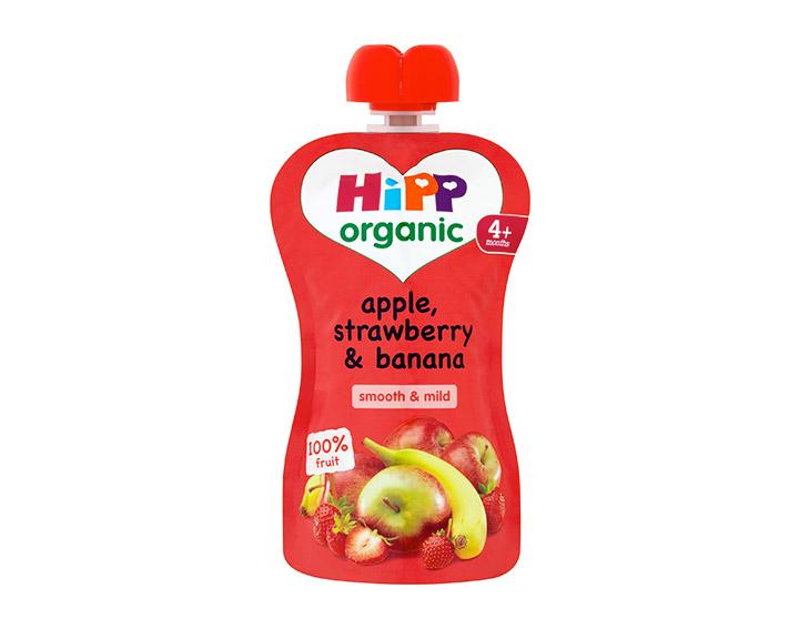 Apple, strawberry & banana