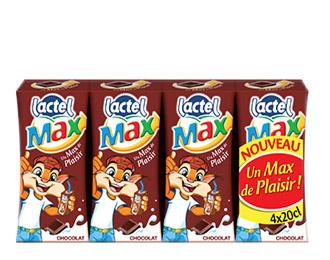 Lactel Max au chocolat 4x20cl