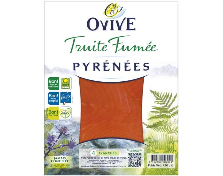 Truite fumée des Pyrénées 4 tranches
