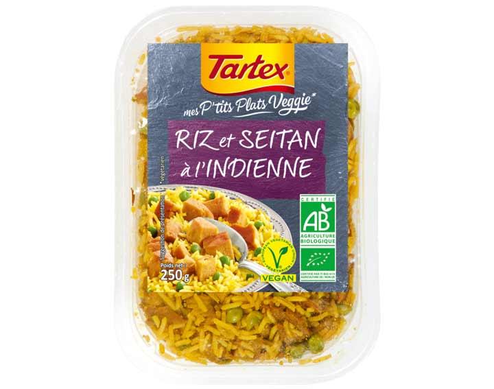 Riz et Seitan à l'Indienne
