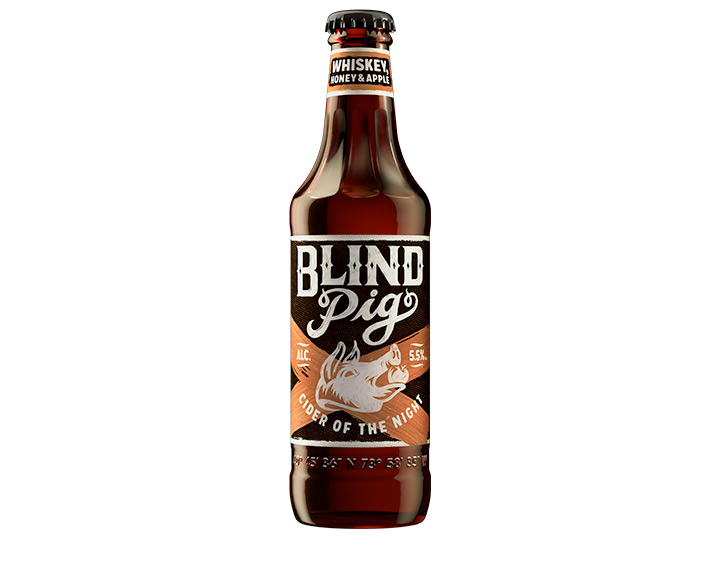 Blind Pig Whiskey, Honey & Apple Cider 355ml