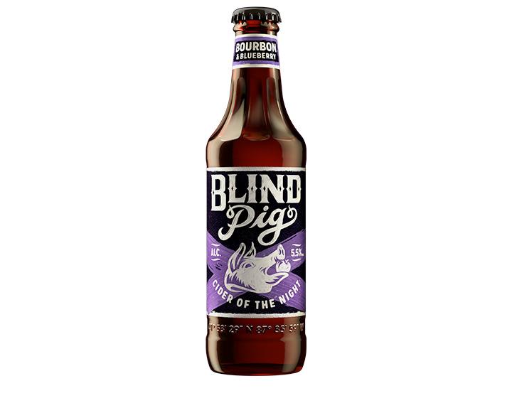 Blind Pig Bourbon & Blueberry Cider 355ml