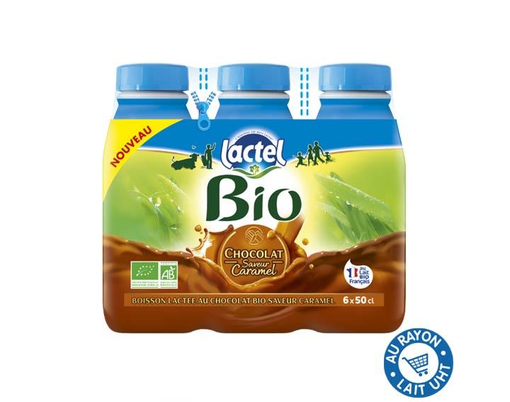 Lactel Bio Chocolat saveur Caramel 6x50cl