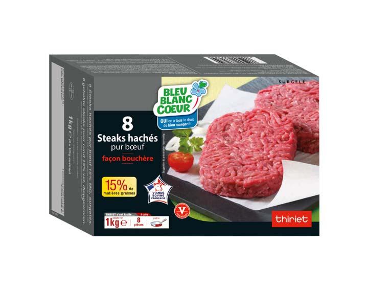 8 steaks hachés 15% MG 1kg