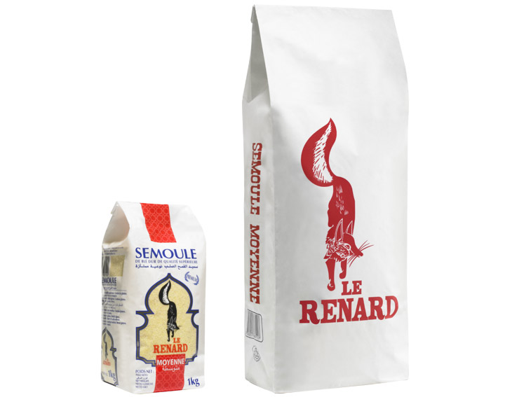 Le Renard Semoule Moyenne (1kg ou 5kg)