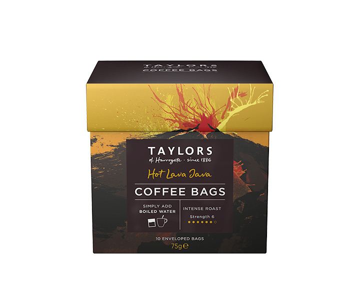 Hot Lava Java Coffee Bags 10pack 75g