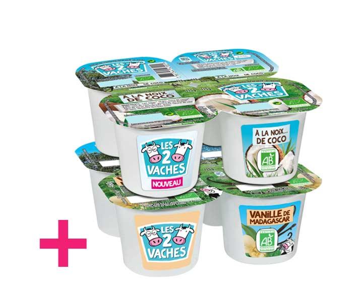 1 pack Coco ou Poire acheté = 1 pack Vanille offert