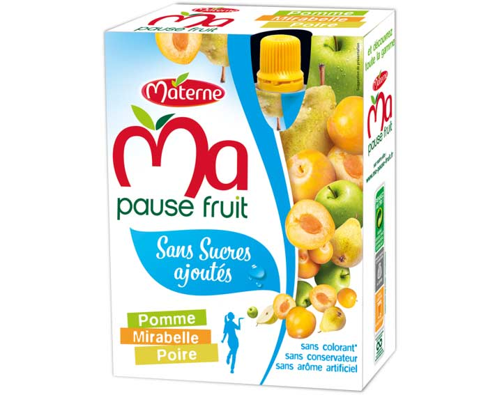 Pomme Mirabelle Poire Sans Sucres Ajoutés
