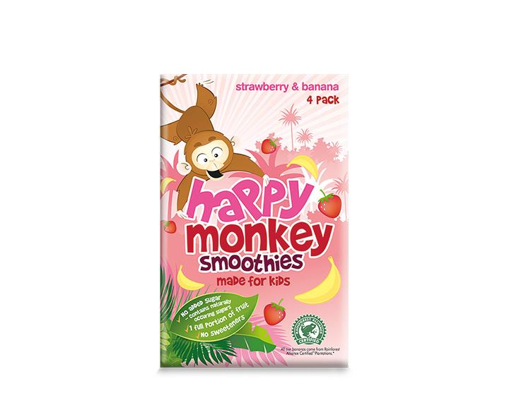 strawberry & banana 4x180ml pack