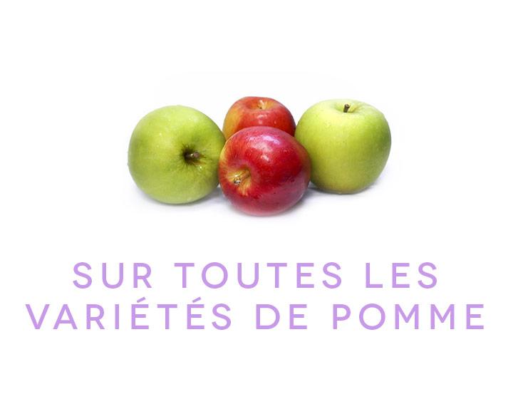 Sur toutes les variétés de pommes