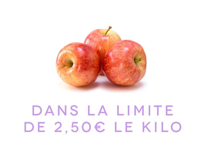 Dans la limite de 2,50€ le kilo