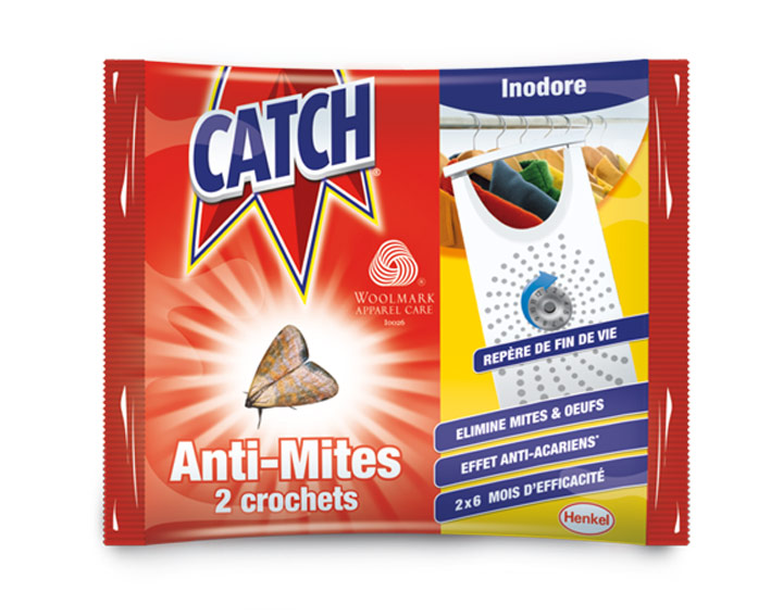 Catch Crochets Anti-mites Inodore - 2 crochets