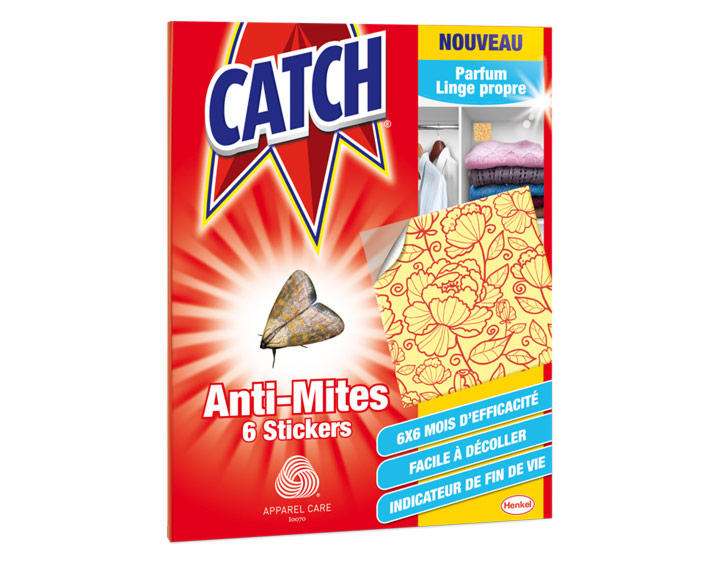 Catch Anti-Mites Parfum Linge Propre - 6 stickers